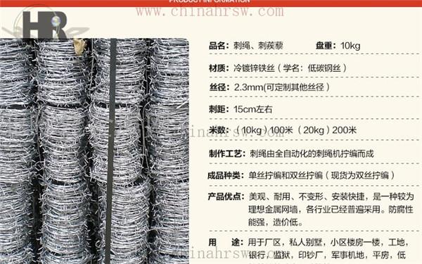 带刺绳铁丝网生产厂家